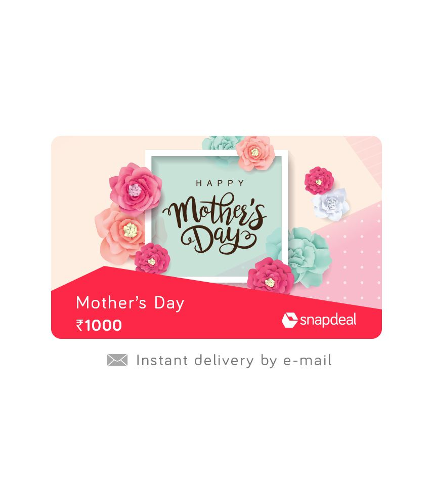 Snapdeal Mother's Day E-Gift Card
