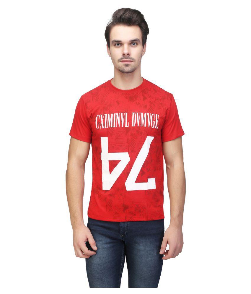 Be-Beu Red Round T-Shirt