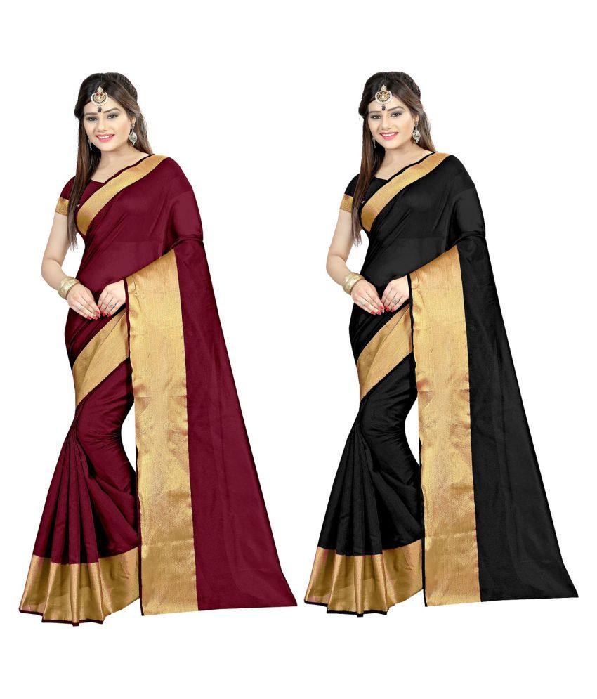Mastani Multicoloured Cotton Silk Saree Combos