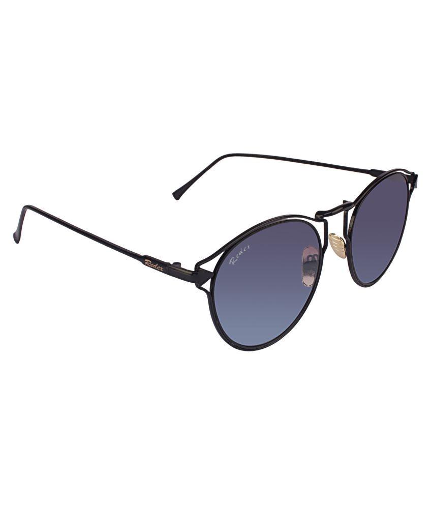 Redex Black Round Sunglasses ( 1253 )