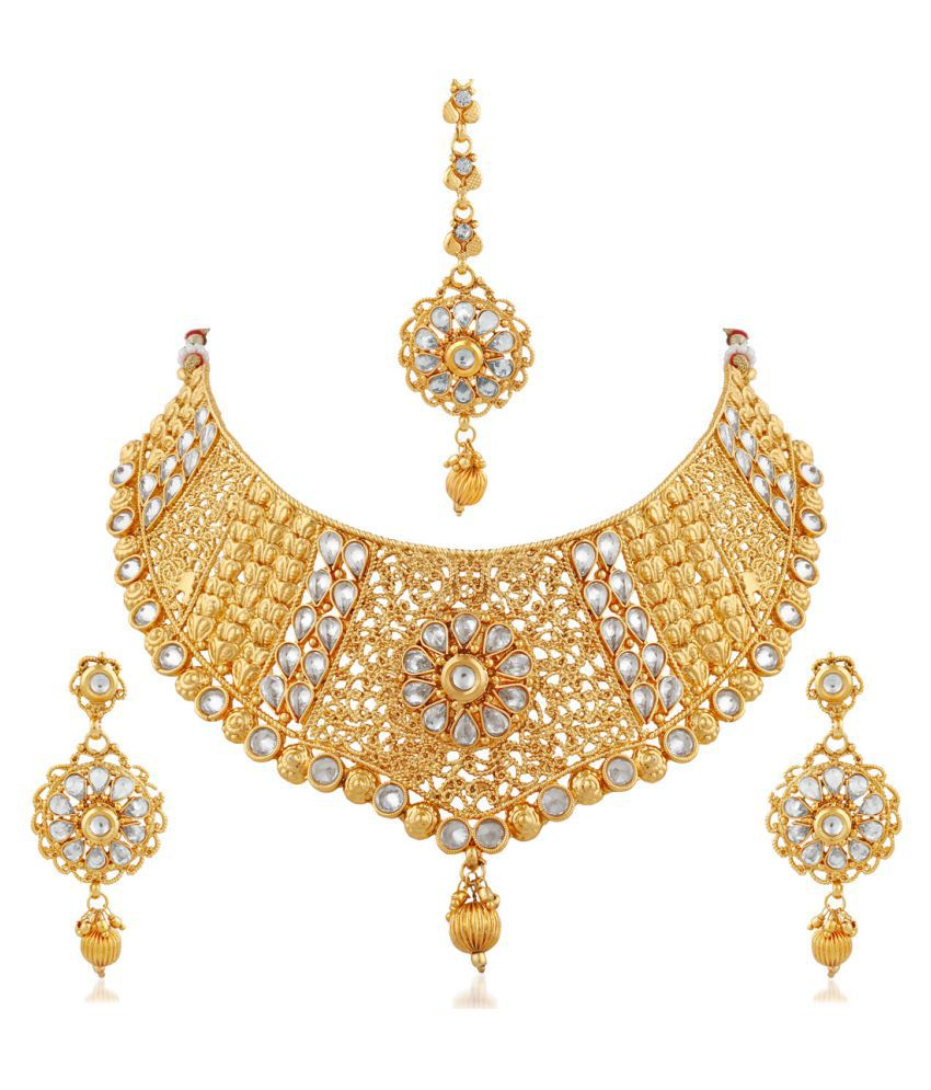 set bridal product necklace kundan