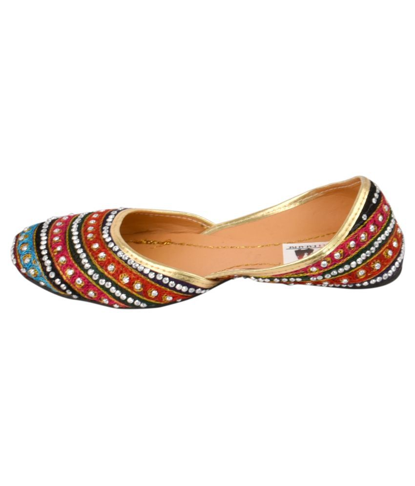 Decot Paradise Multi Color Flat Ethnic Footwear