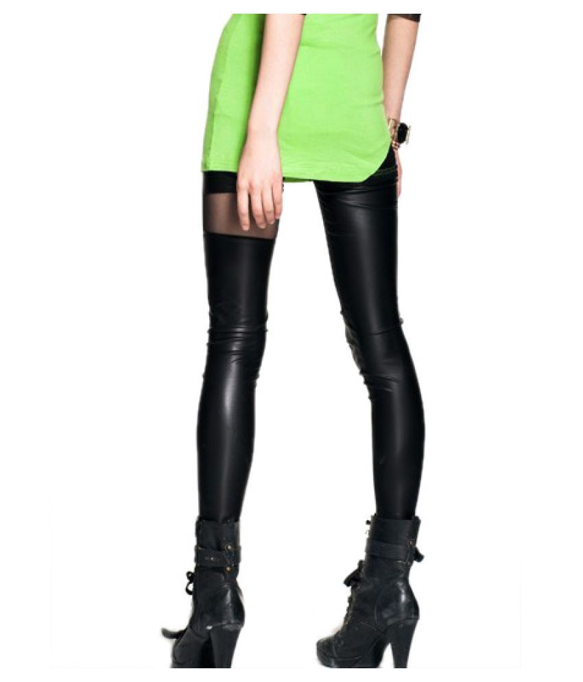 b6ce3c2d355c6 Buy Kaamastra Faux Leather Jeggings Online at Best Prices in India ...