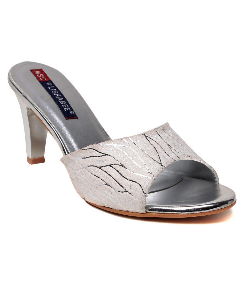 MSC Silver Cone Heels