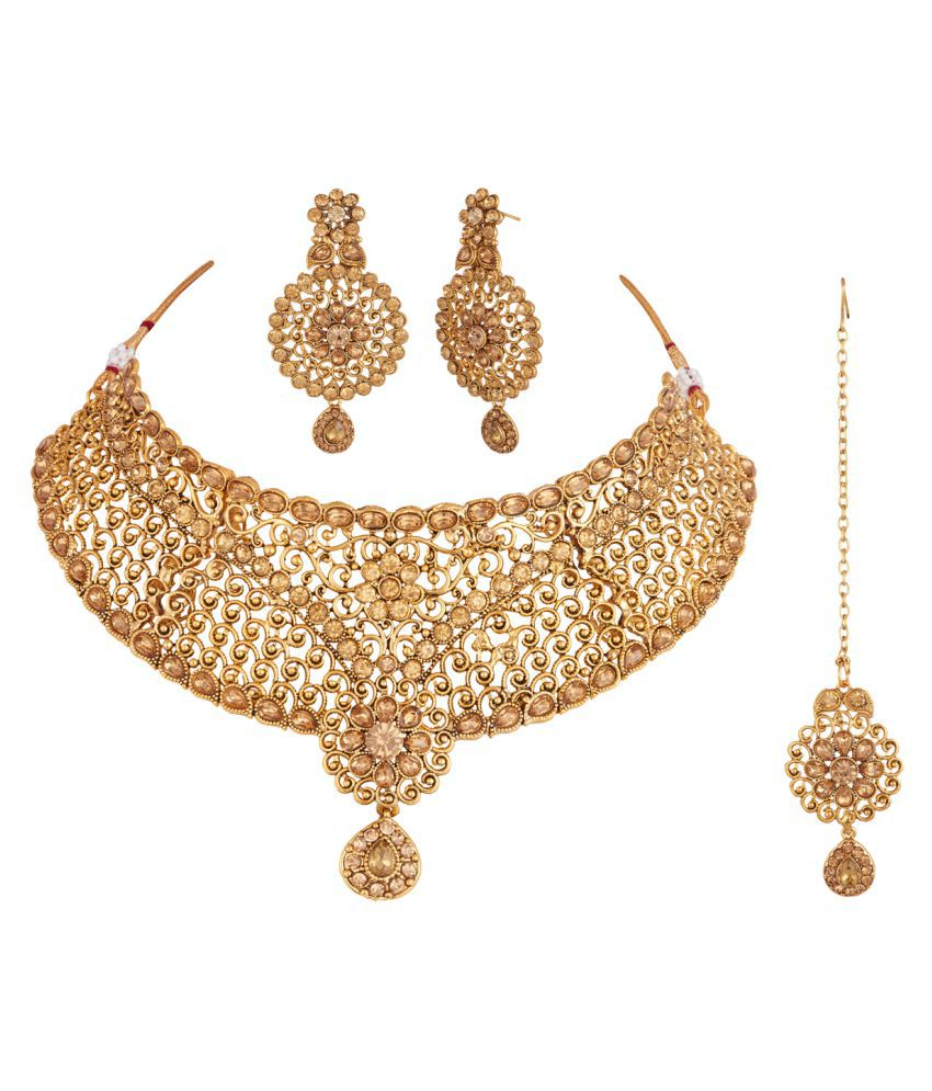 bridal lace rhinestone set necklace products