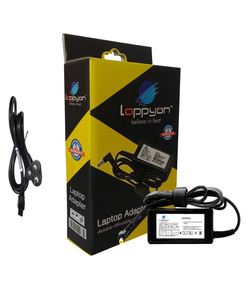 LappyOn Laptop adapter compatible For Acer 19V1.58A(y)Acer 30W light weight Adapter,led light