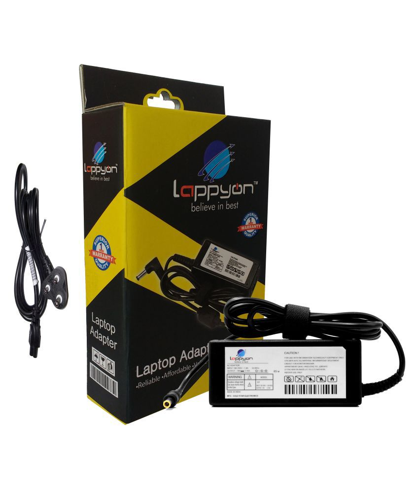 LappyOn Laptop adapter compatible For Samsung Samsung Laptop Adapter 19V 3.16A Light Weight, LED Indicator