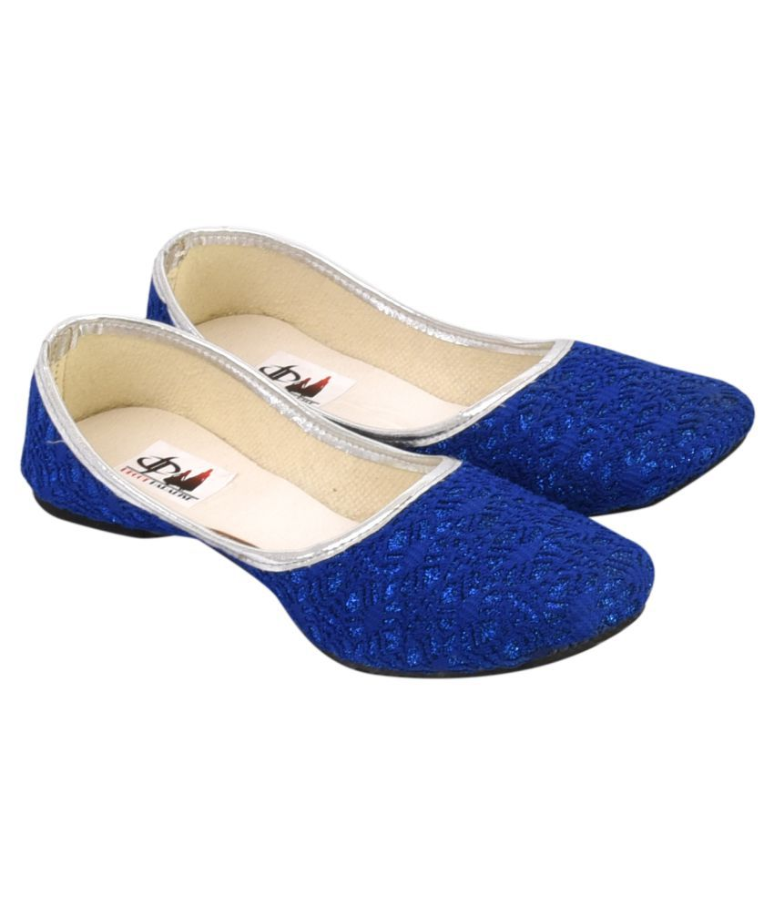 Decot Paradise Blue Flat Ethnic Footwear