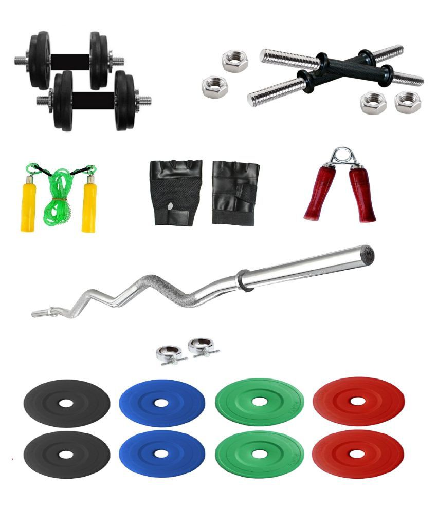 Fitfly kg pvc weight home gym set with ft curl rod