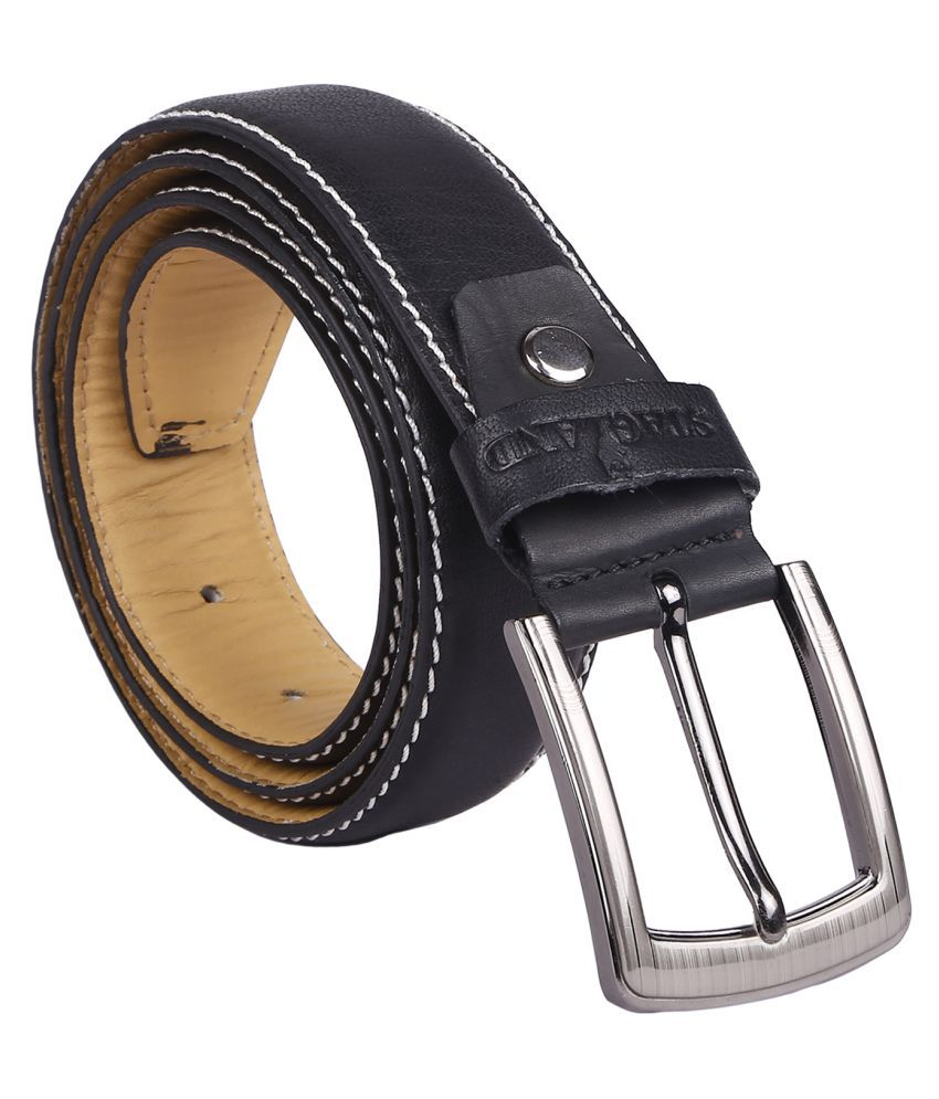 Stagland Black Leather Formal Belts