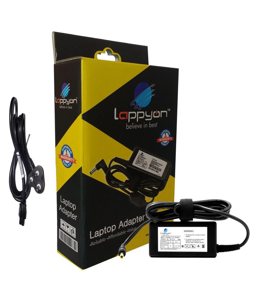 LappyOn Laptop adapter compatible For Samsung SAMSUNG 19V2.1A 40W light weight Adapter,led light