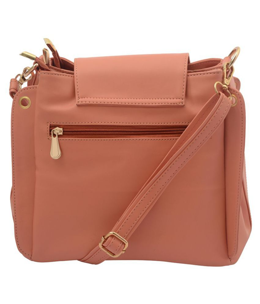 0f0a504931455 Lychee Bags PeachPuff P.U. Sling Bag - Buy Lychee Bags PeachPuff P.U. Sling  Bag Online at Best Prices in India on Snapdeal