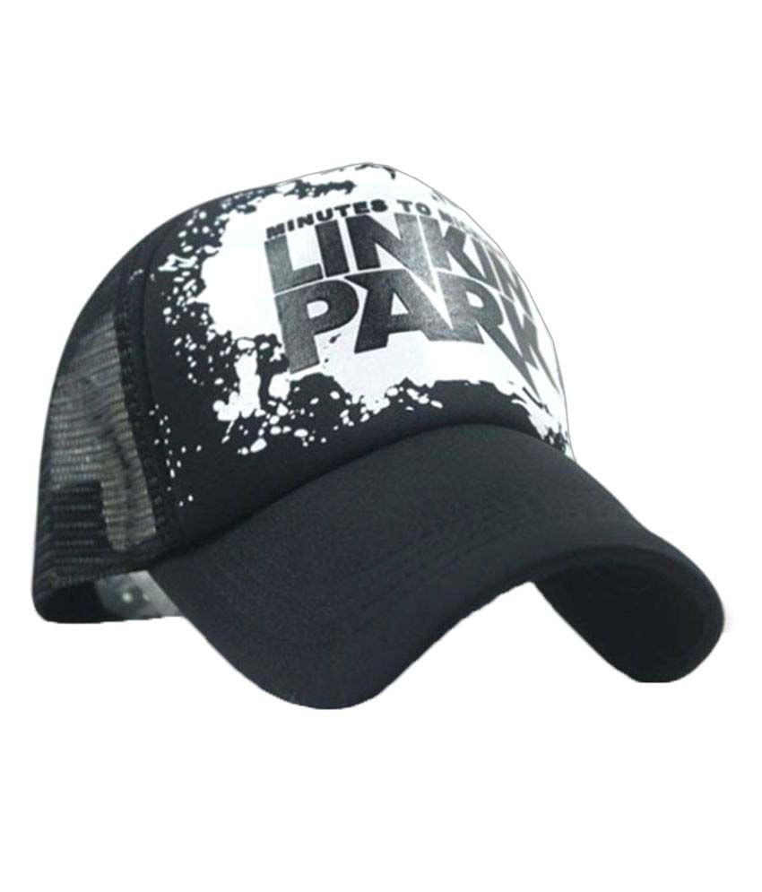 Printed Linkin Park Printed In Black Colour Half Net Cap 299a41cc6f1