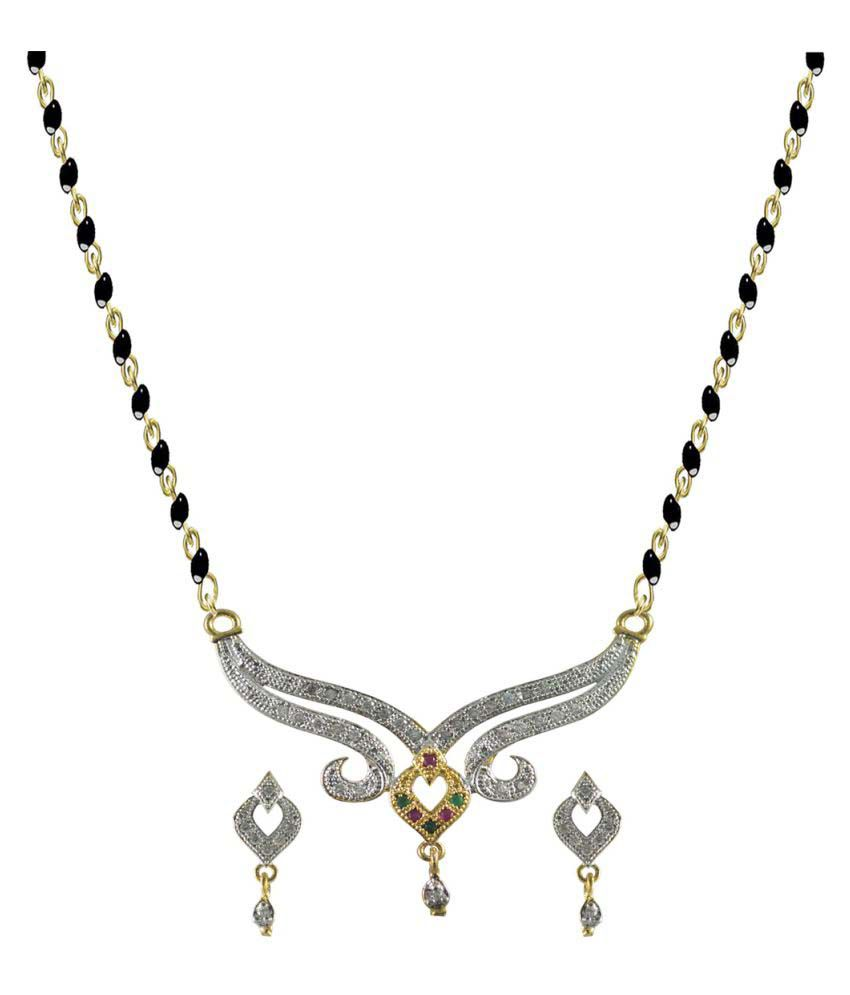 Rejewel Multicolour Alloy Mangalsutra Set for Women