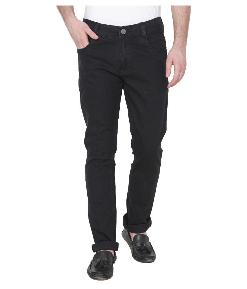 Xee Black Regular Fit Jeans