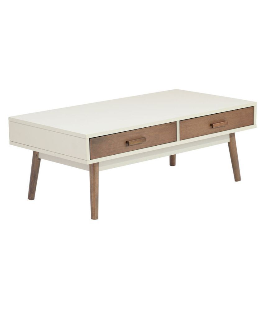 Amaani Furniture Handcrafted Mango Wood White Coffee Table With Drawer For Living Room Buy