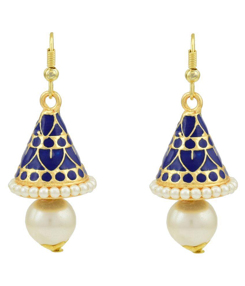 High Trendz Stylish Traditional Meenakari Jhumki Earrings F...