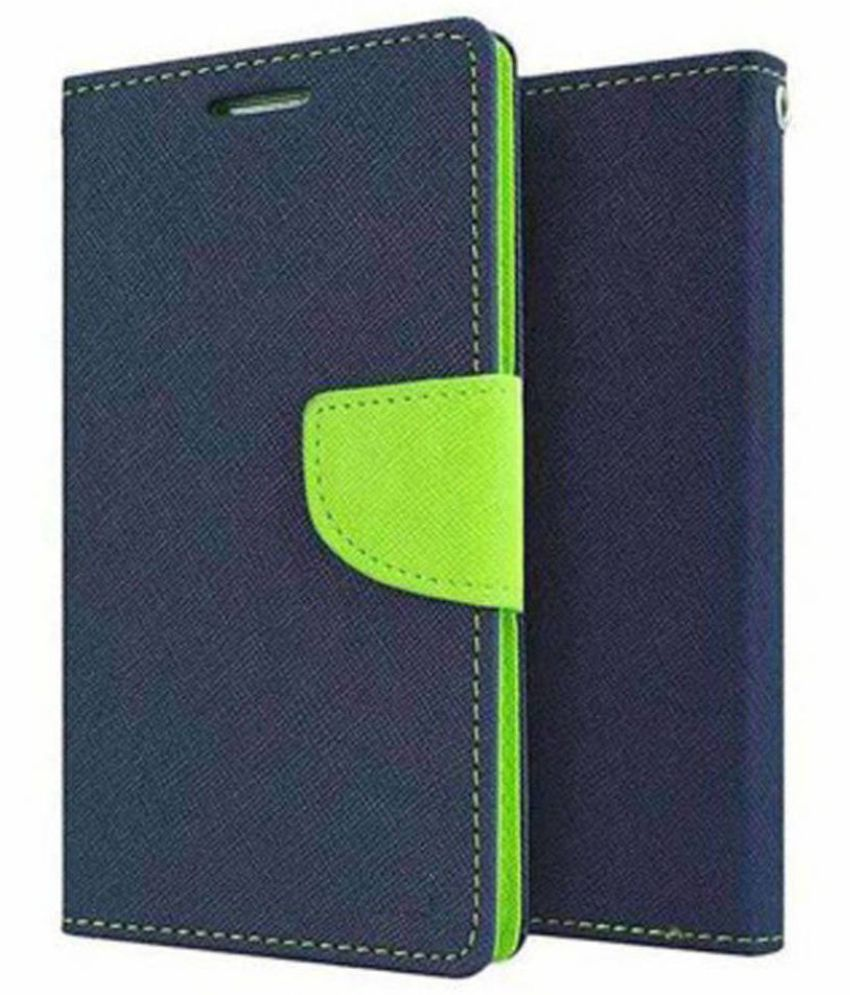 Samsung Galaxy E7 Flip Cover by Kosher Traders - Blue
