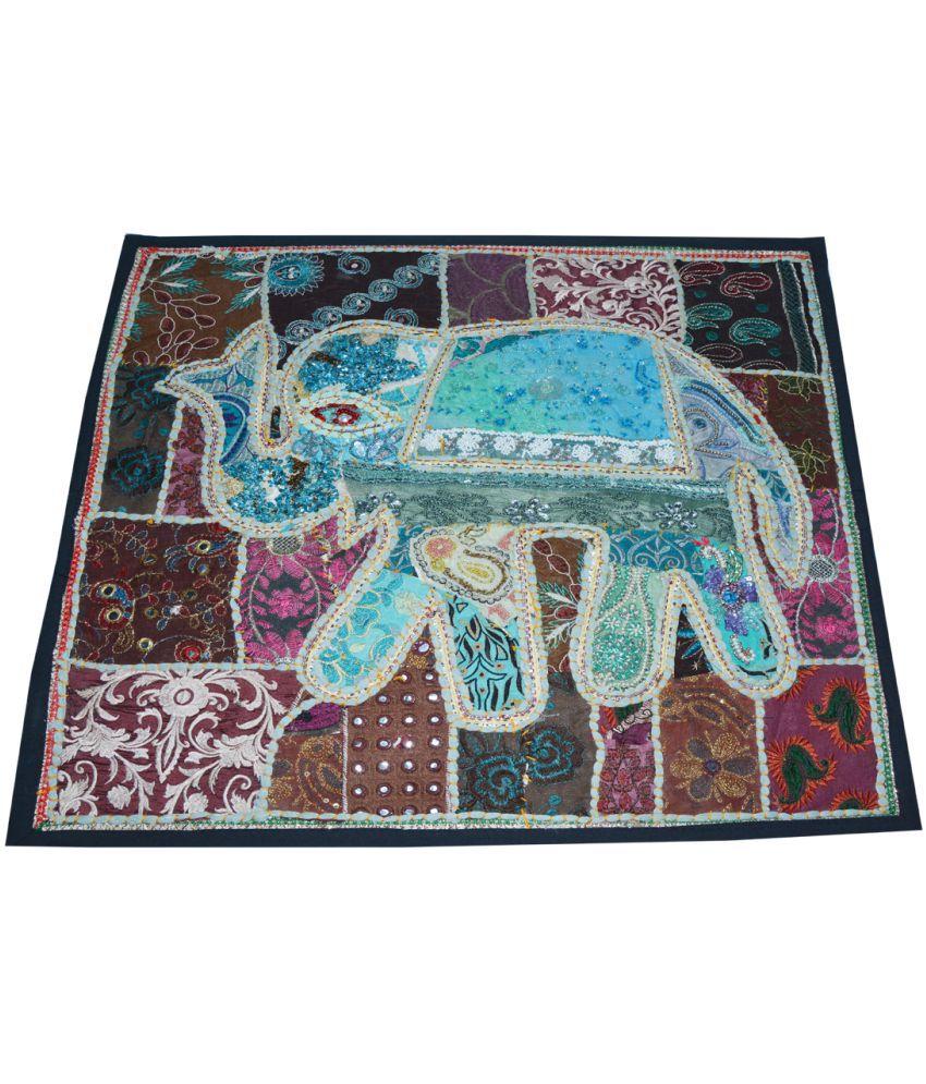 The Rajasthali Single Cotton Cushion Covers 60X60 cm (24 X 24)