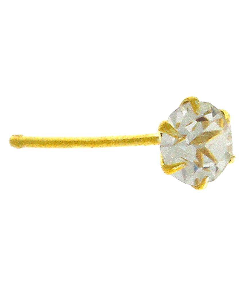 Anuradha Art Golden Tone Styled With Single Stone Designer Studded Stone Wonderful Nose Pin For Women/Girls