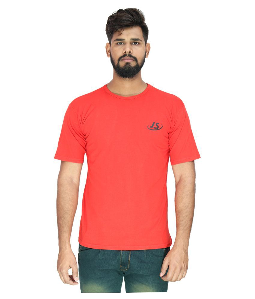 JS Red Round T-Shirt