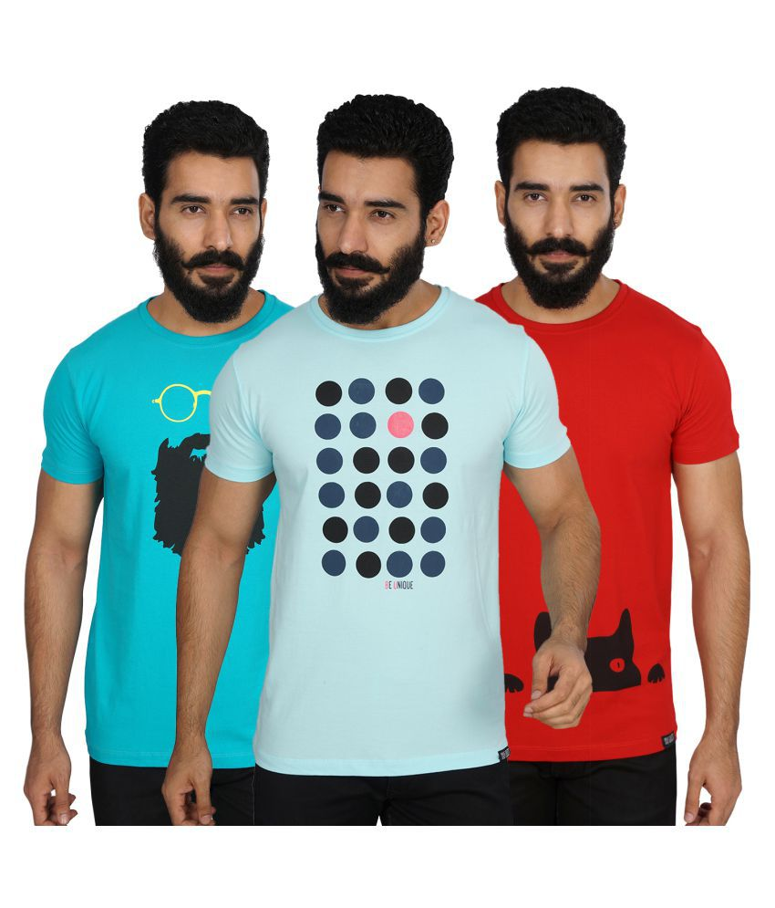 Unrule Multi Round T-Shirt Pack of 3