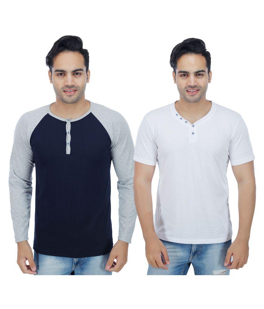 Christy World Multi V-Neck T-Shirt Pack of 2