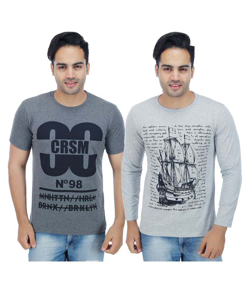 Christy's Collection Grey Round T-Shirt Pack of 2