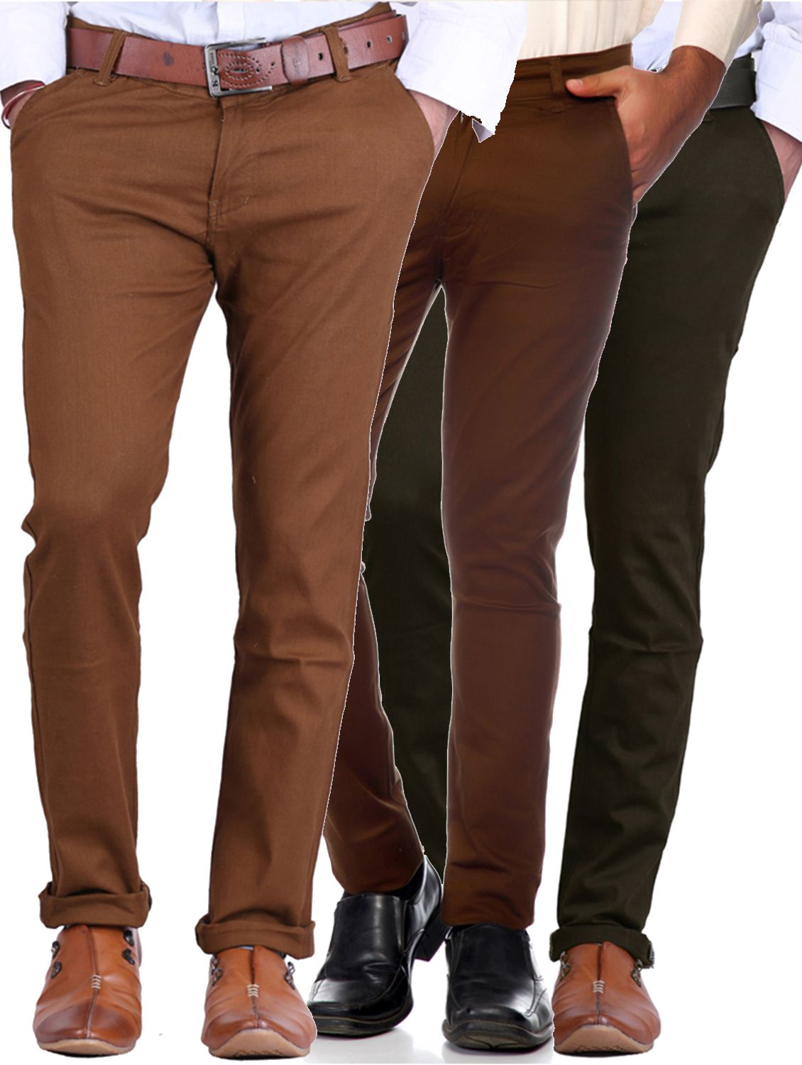 Van Galis Multi Slim -Fit Flat Trousers