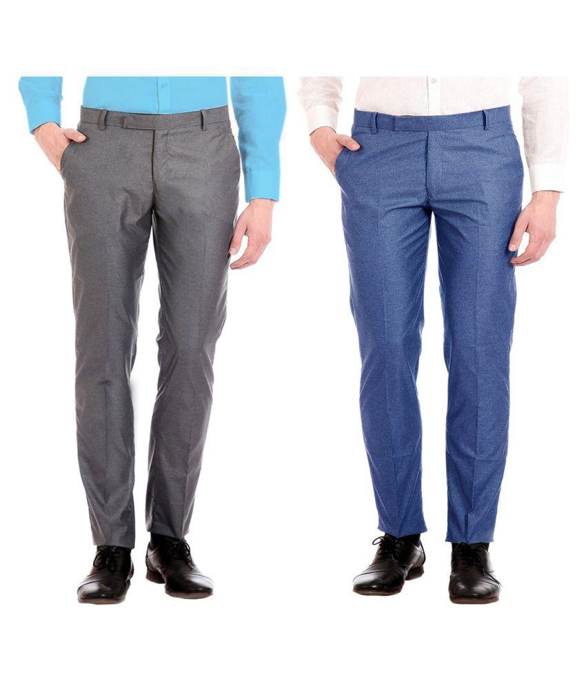 AD & AV Multi Regular -Fit Flat Trousers
