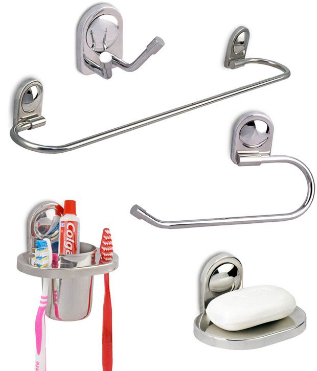 Buy Doyours Stainless Steel 5 Pieces Bathroom Accessory Set Online At Low Price In India