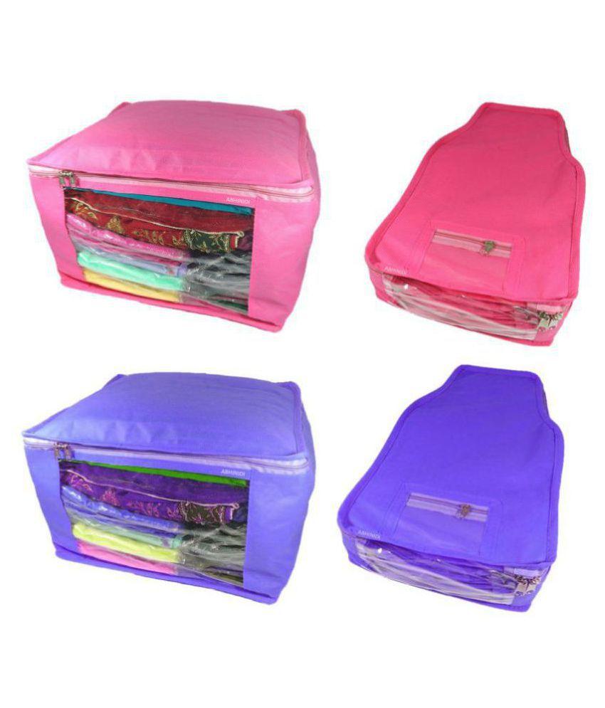 Abhinidi Purple Saree Covers - 12 Pcs