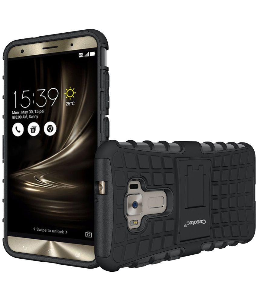 Asus Zenfone 3 Ze552kl Hybrid Covers Casotec Black Plain Back