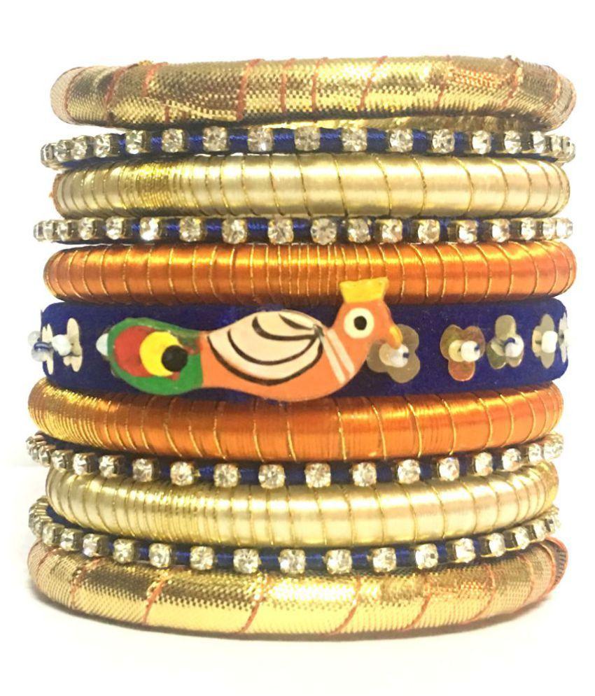 Kuhuk Handmade Silk Dori Bangle Set