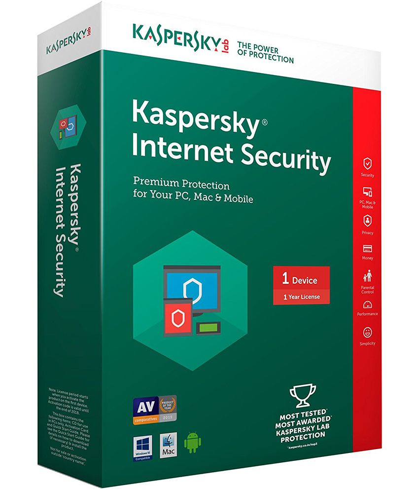 Kaspersky Internet Security Latest Version( 1 / 1 ) CD