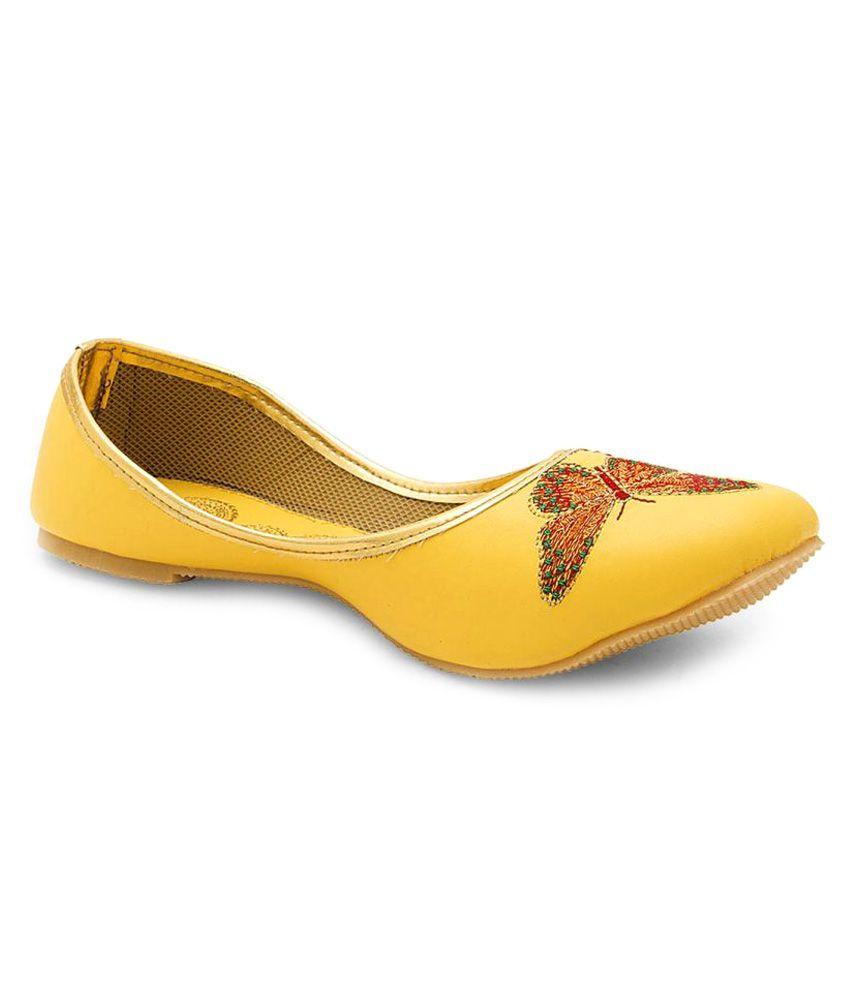 Jaipuri Shop Yellow Flat Ethnic Footwear