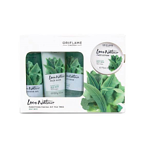 Oriflame Pure Nature Tea Tree and Rosemary Facial Kit For Combination To Oily Skin