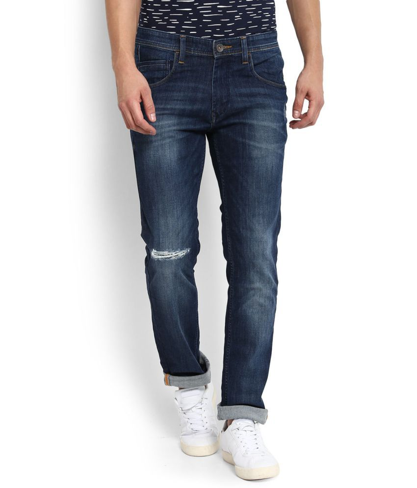 United Colors of Benetton Blue Slim -Fit Flat Jeans