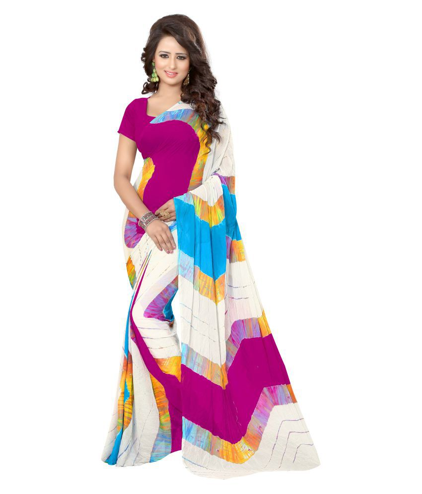 Nilkanth Enterprise Multicoloured Art Silk Saree