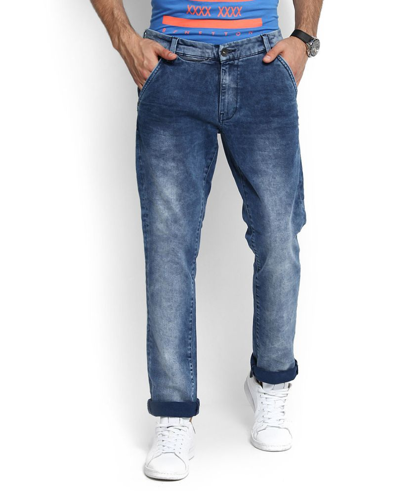 United Colors of Benetton Blue Regular -Fit Jeans
