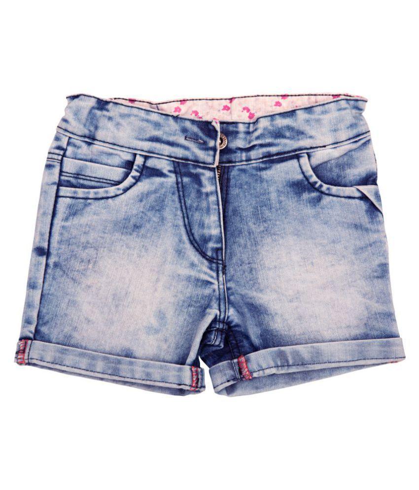 Holy Brats Washed denim shorts