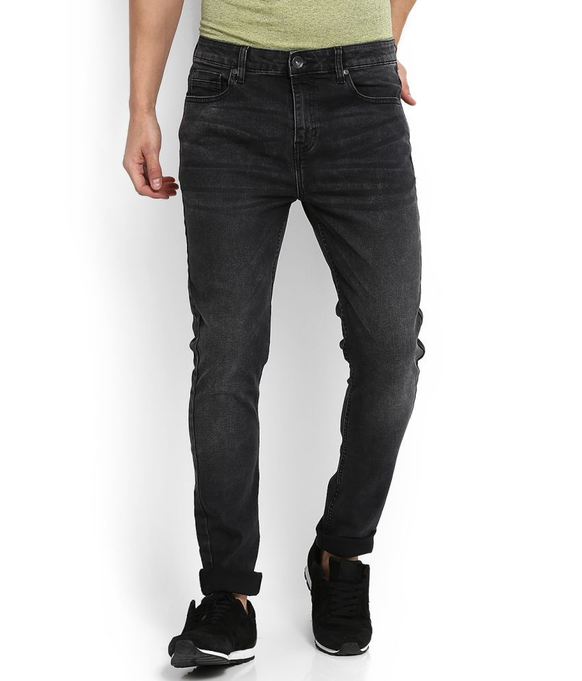 United Colors of Benetton Black Slim -Fit Jeans