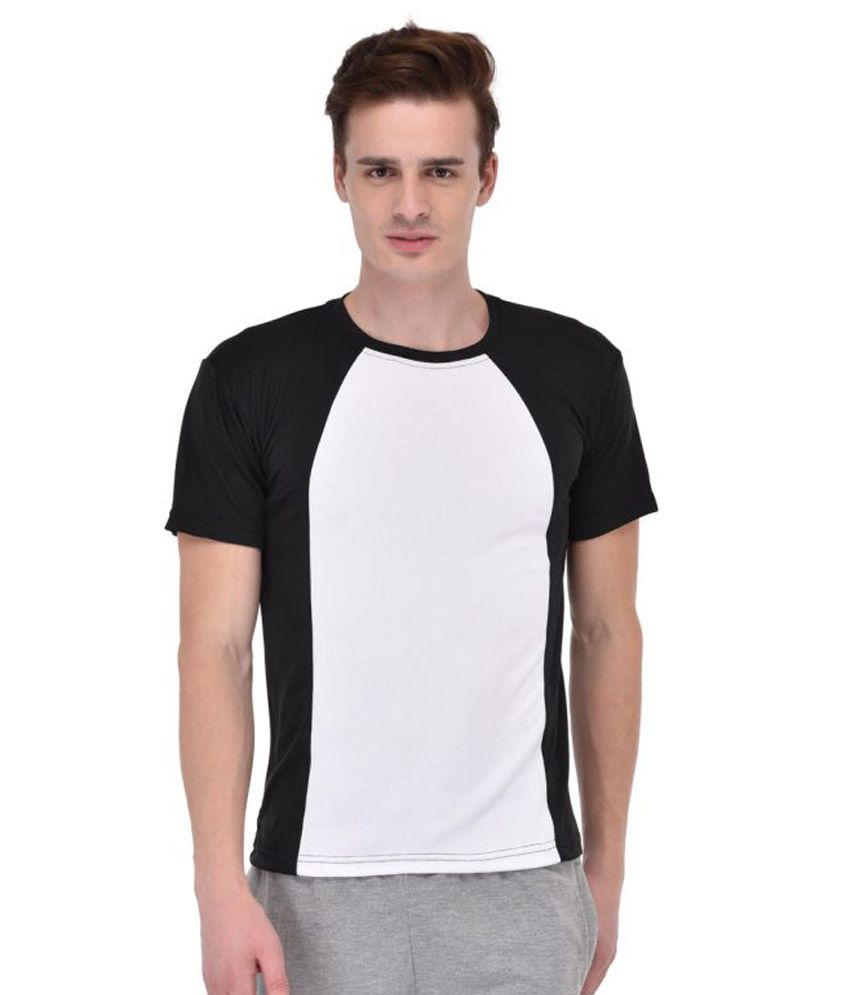 Ansh Fashion Wear Multi Polyester Lycra T-Shirt Single Pack