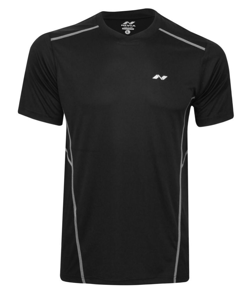 Nivia Oxy-1 Fitness Tee Black-2213-l2