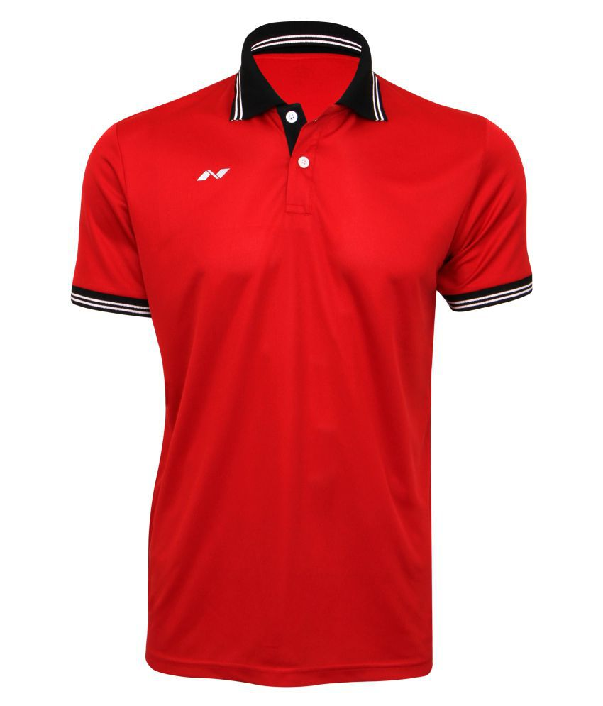 Nivia Quench -1 Polo Tee Red-2290-s2