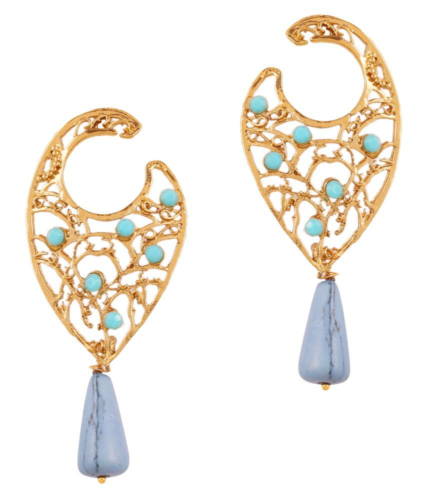 Touchstone Antique Gold Plated Traditional Earrings