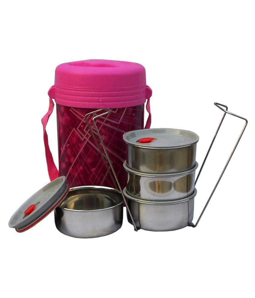 Milton Pink Stainless Steel Lunch Box