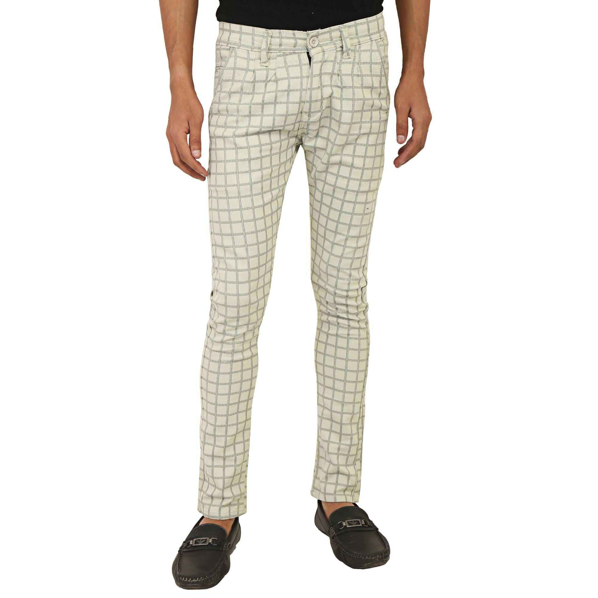 Roles Beige Regular -Fit Flat Trousers