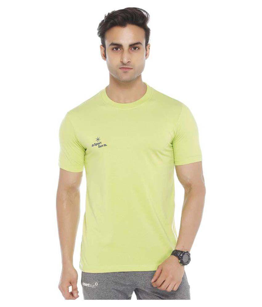 Sport Sun Green Round T-Shirt