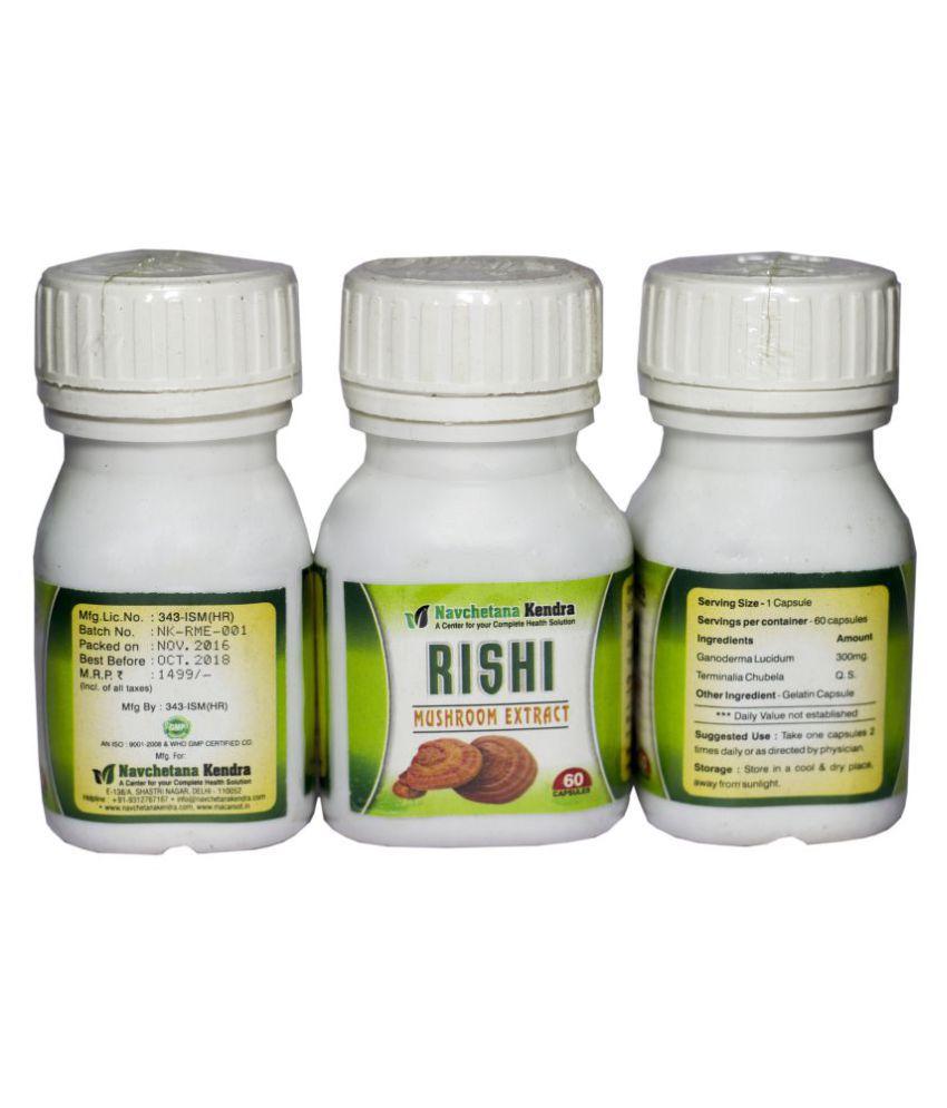 NAVCHETANA KENDRA Reishi Mushroom Extract Capsule 300 mg